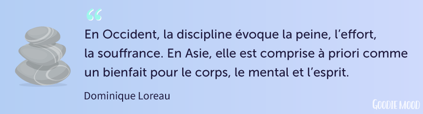 "citation de Dominique Loreau, ""L'art de la simplicité"" - La discipline"