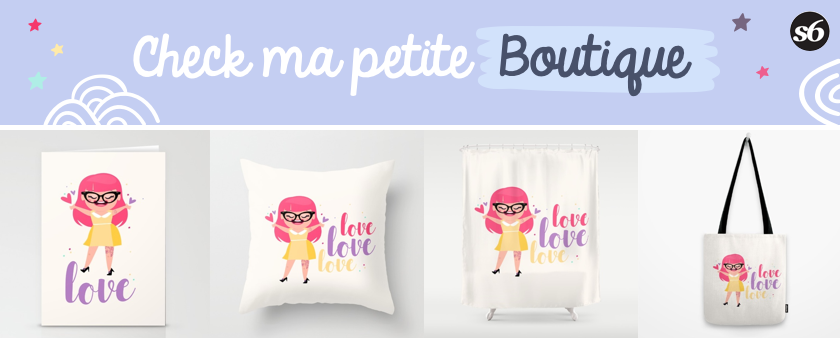 illustration fille society6 boutique