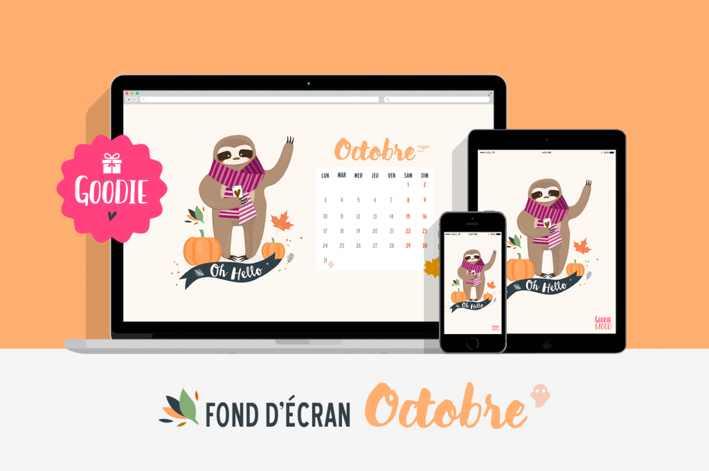 free gift wallpapers october 2016 funny sloth calendar