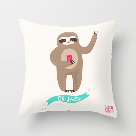 coussin sloth paresseux
