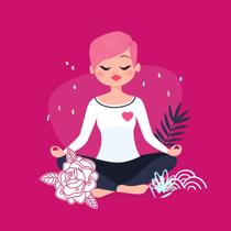 goodie mood boutique zen meditation illustration