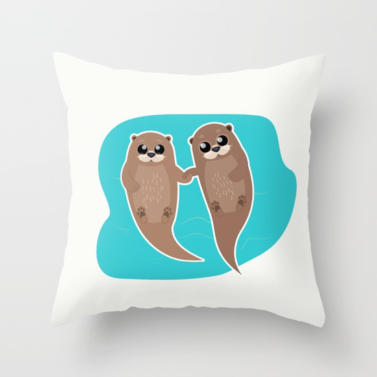 cute-otters-cuddle-party-pillows