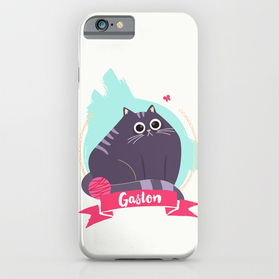goodie mood illustration chat Gaston iphone case