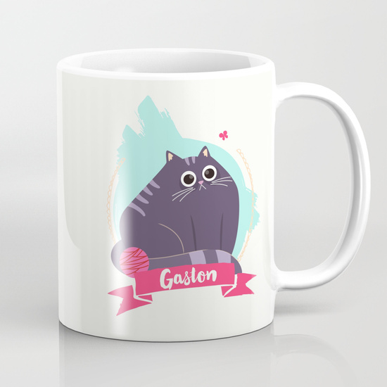 goodie mood illustration chat Gaston tasse cup mug