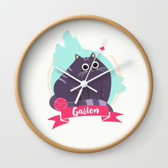 goodie mood illustration chat Gaston horloge