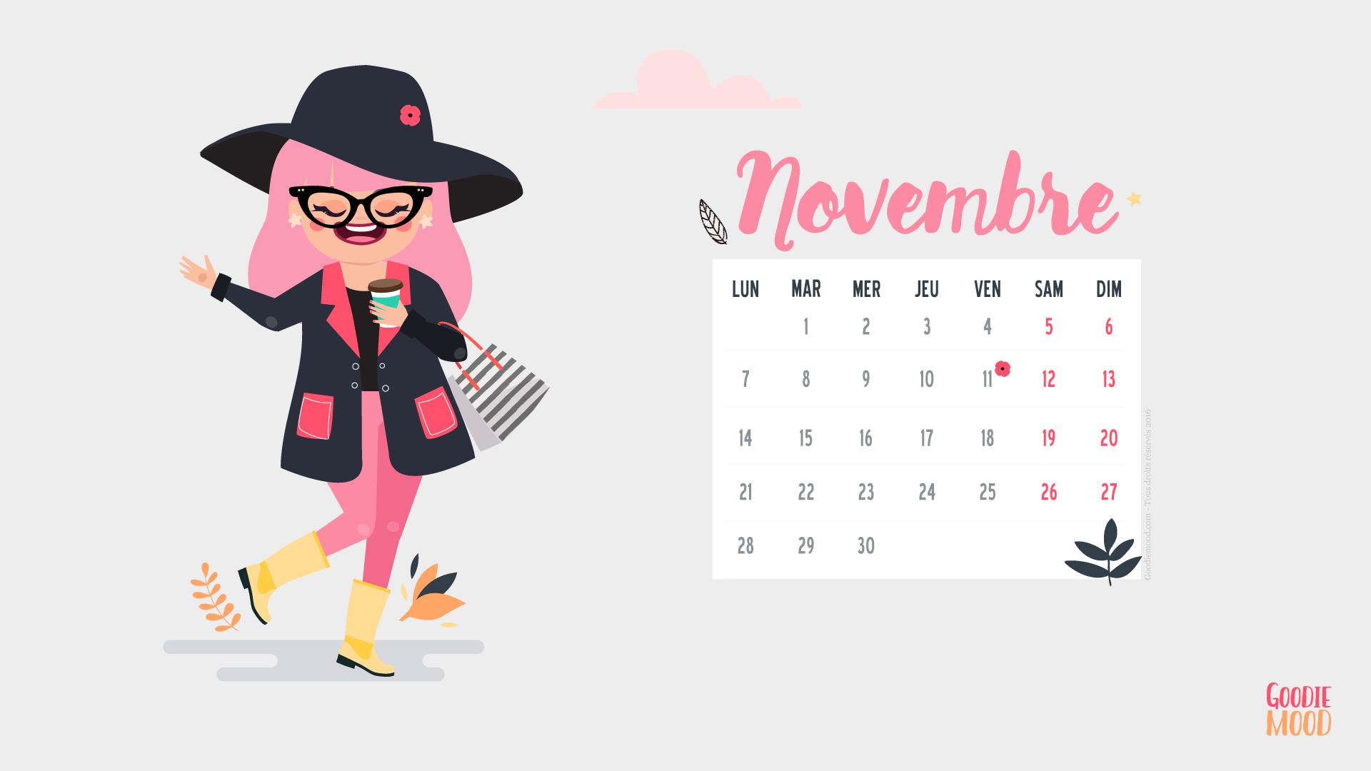Fond d 39 cran pour le mois de novembre goodie mood for Fond ecran novembre