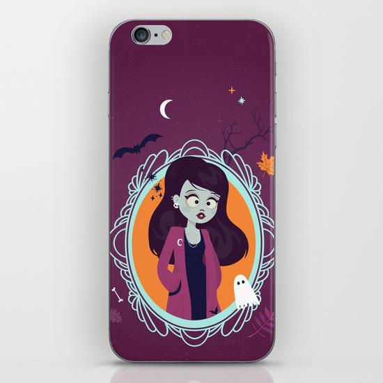 halloween zombie girl illustration society6 - iphone