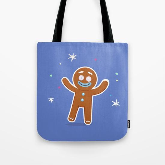 boutique goodiemood-gingerbread-man-tote-bag