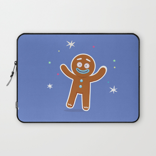 boutique goodiemood-gingerbread-man-laptop-sleeves