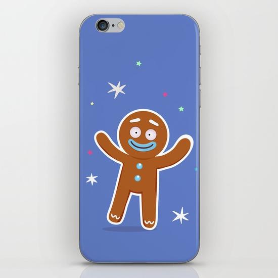 boutique goodiemood-gingerbread-man-iphone-skin