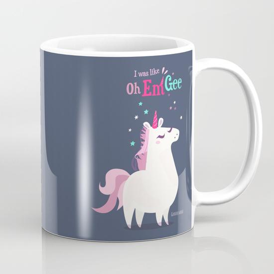 tasse cup licorne illustration