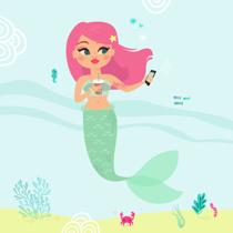 illustration sirène goodie mood