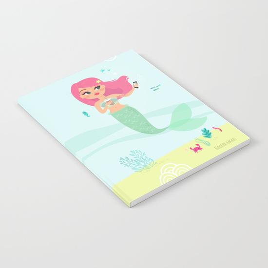 sirène illustration notebook carnet