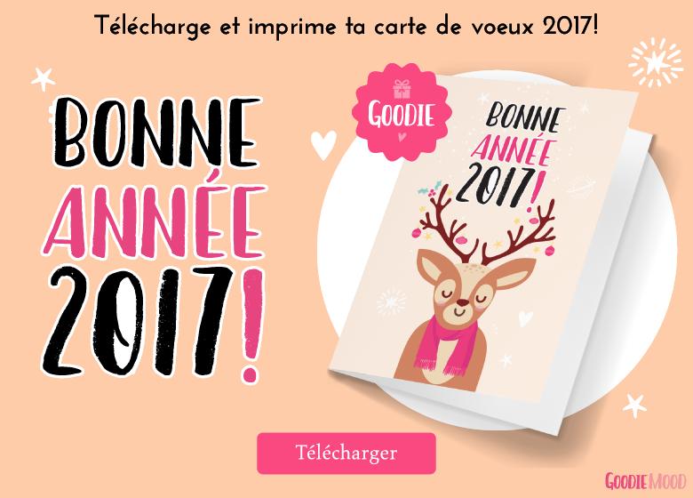 carte de voeux gratuite à imprimer pour 2017