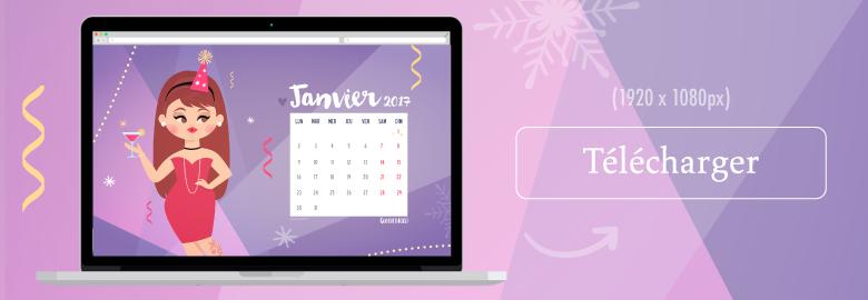 fond d'écran imac desktop janvier 2017 illustration