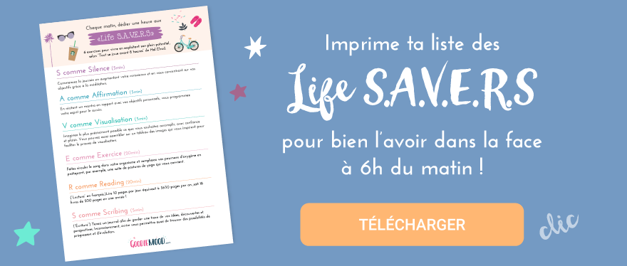 Les life Savers du Miracle Morning à imprimer en cadeau