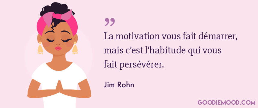 Citation de Jim Rohn sur la motivation
