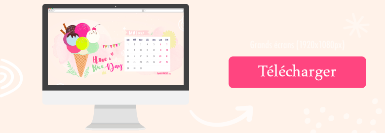 fond d'ecran calendriernmai 2017 imac