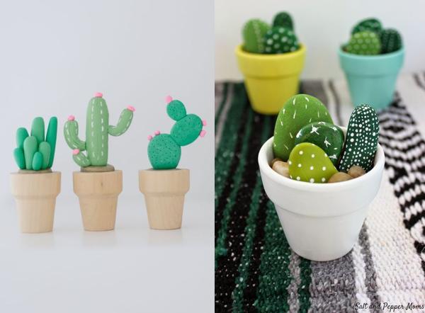 diy cailloux cactus activite creative