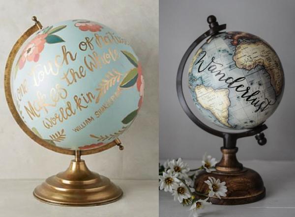 globe diy creativite painting