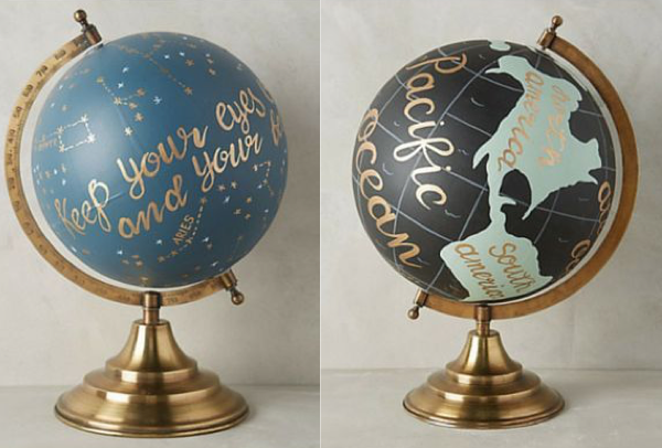 globe diy creativite painting
