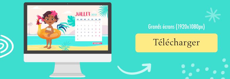 télécharger le fond d'écran-calendrier pour imac pour juin 2017
