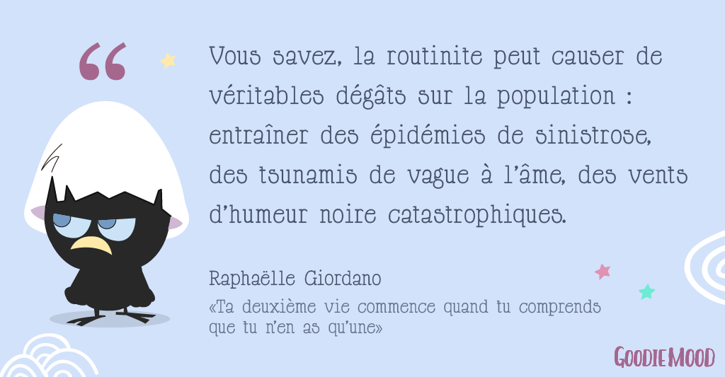 illustration citation sinistrose routinite raphaelle giordano