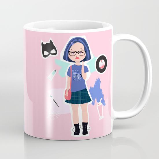 enid ghost world fan art society 6 mug