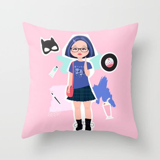 enid ghost world fan art society 6 pillow