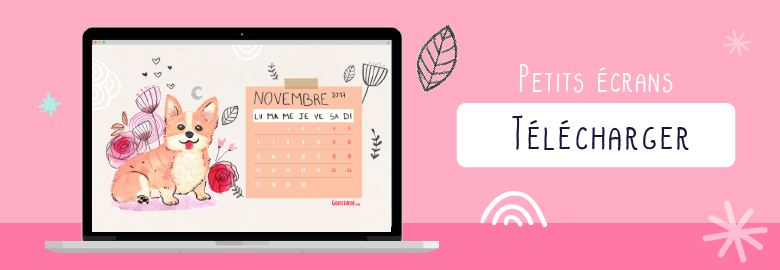 telecharger goodie gratuit illustration corgi calendrier novembre 2017