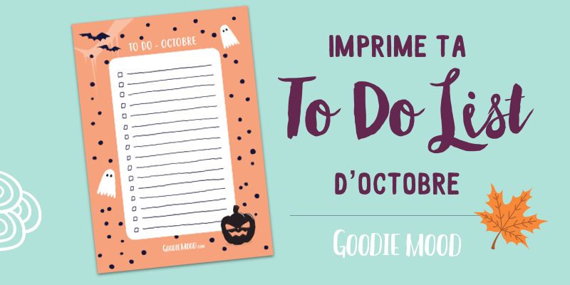 goodie à imprimer to do list Halloween bucket journal