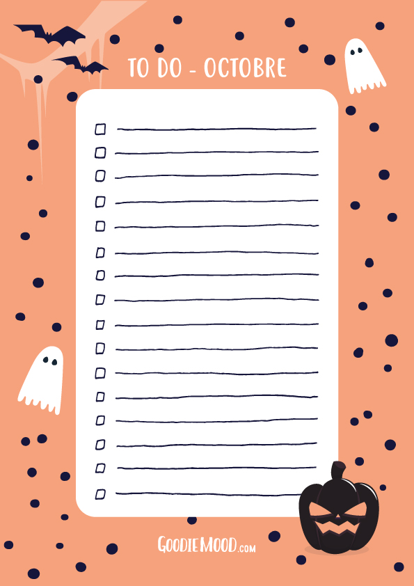 Organisation Ta To Do List D Octobre Goodie Mood