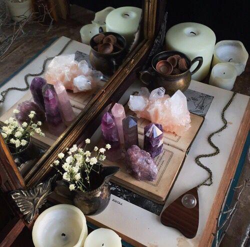 décoration cristaux et pierres
