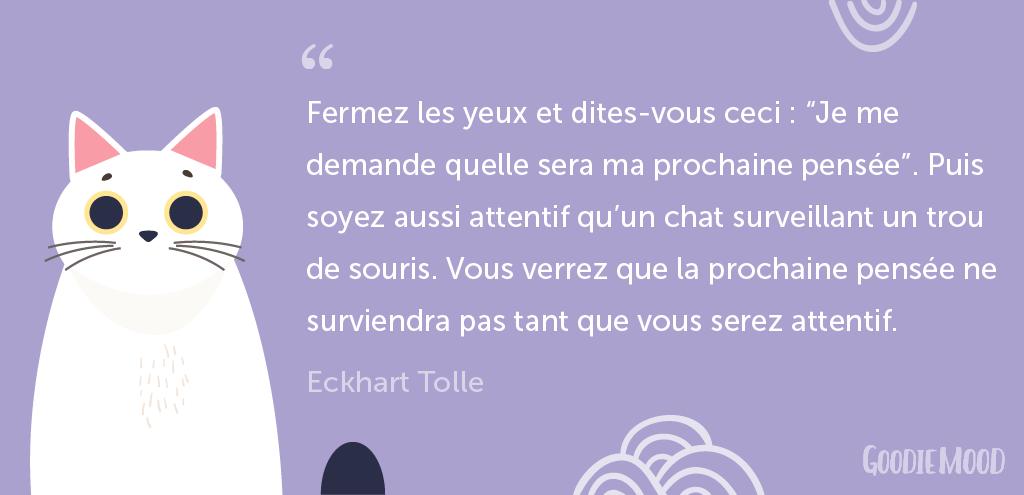 citation Eckhart Tolle - Le pouvoir de la méditation