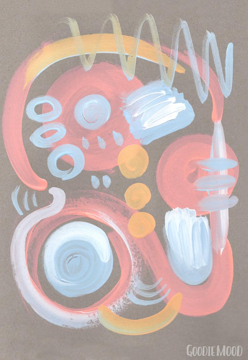 peinture abstraite composition pastel