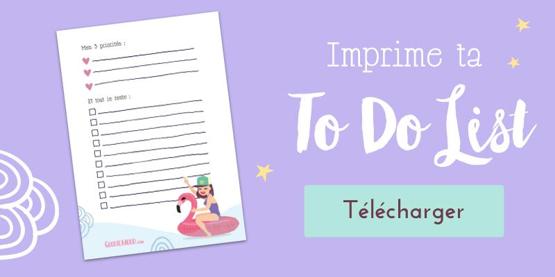 imprime ta to do list illustrée pour rester organisée !