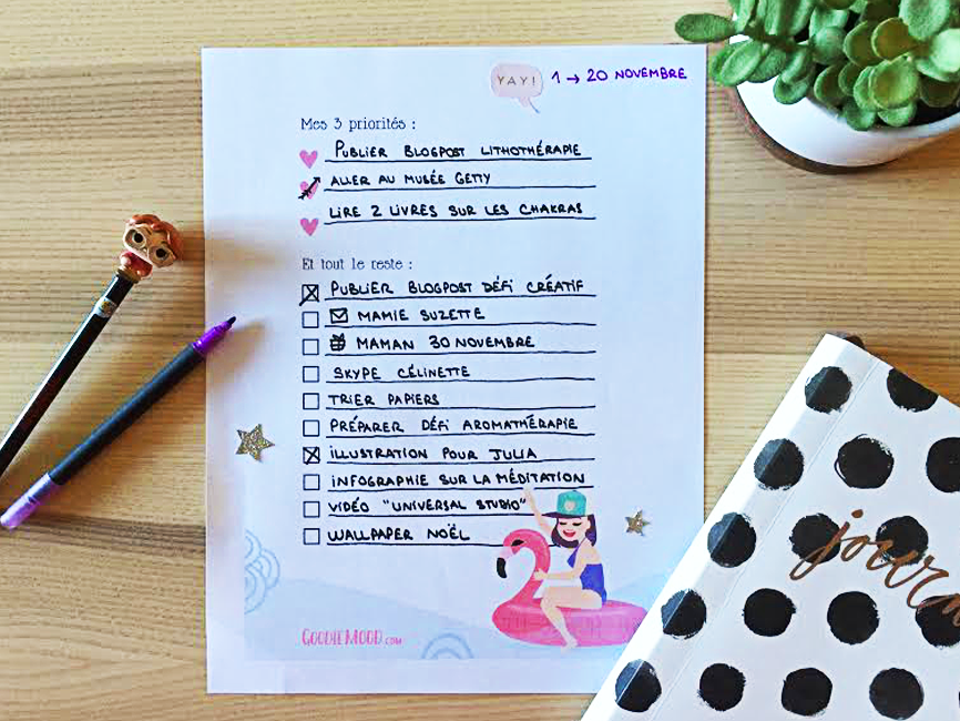 to do list bullet journal illustration