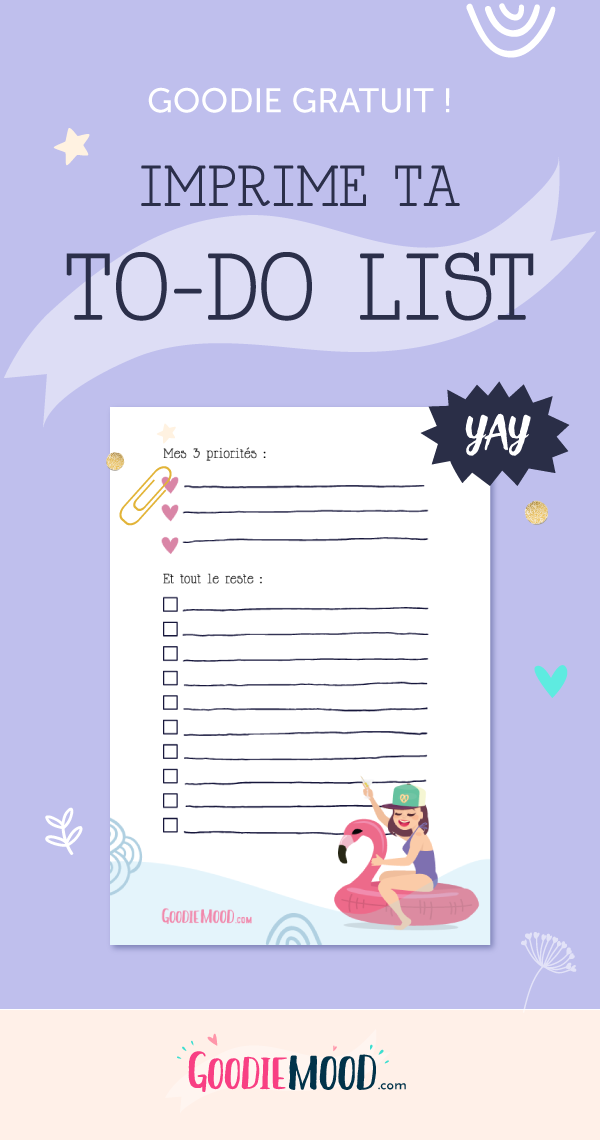 ✔️ Imprime gratuitement ton planning pour rester organisée ! Sur Goodie Mood le blog Feel Good et Créativité 🌟 #developpementpersonnel #penseepositive #feelgood #blog #psychologiepositive #bienetre #inspiration #todolist #bulletjournal #bujo #Planning #weeklist #todolist #semainier