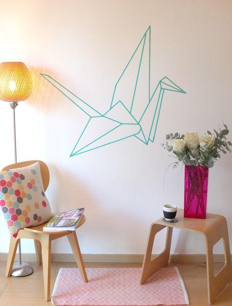DIY Washi Tape bird origami