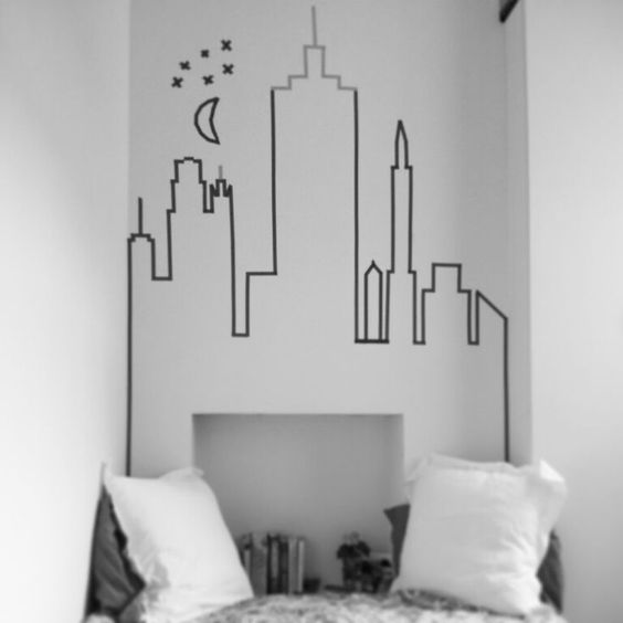 DIY Washi Tape New York Skyline