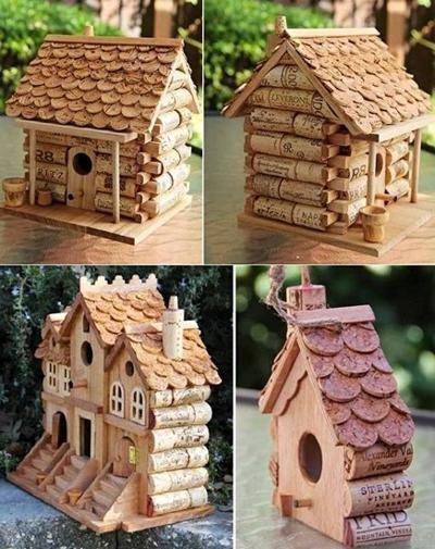 DIY créer une cabane à oiseaux en bouchons de liège