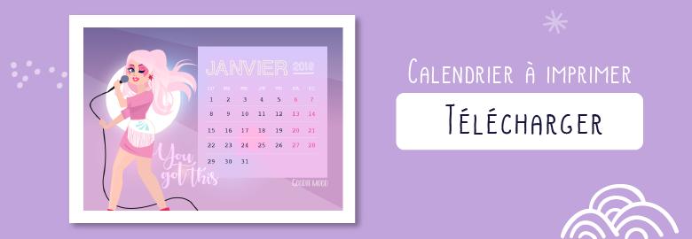 Télécharger le calendrier janvier 2018 - Jem & The Holograms