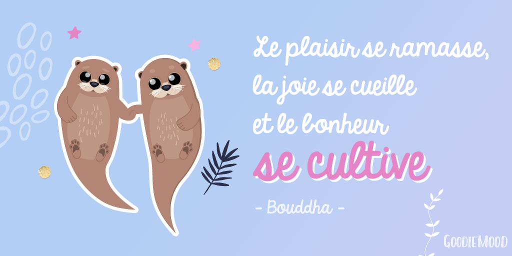 proverbe illustré de Bouddha sur le plaisir
