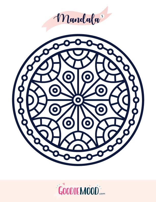 Coloriage Gratuit Imprimer Mandala.Coloriage Mandala 3 A Imprimer Goodie Mood
