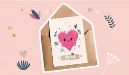 imprime tes cartes gratuites de st valentin