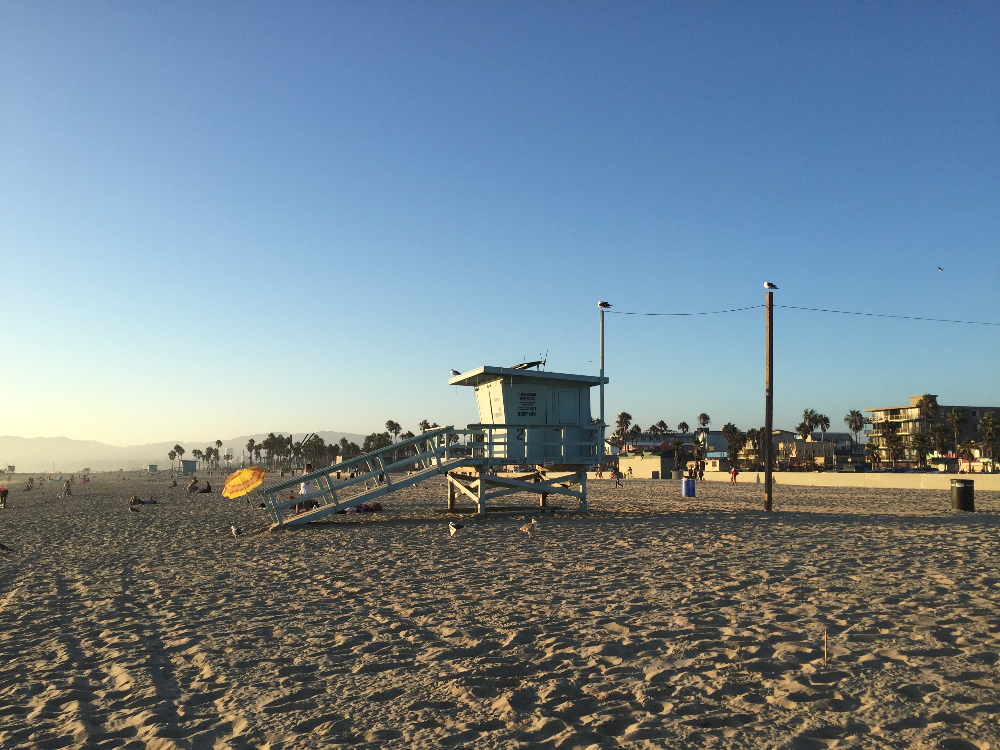 photo Santa Monica Californie, Venice Beach cabanon
