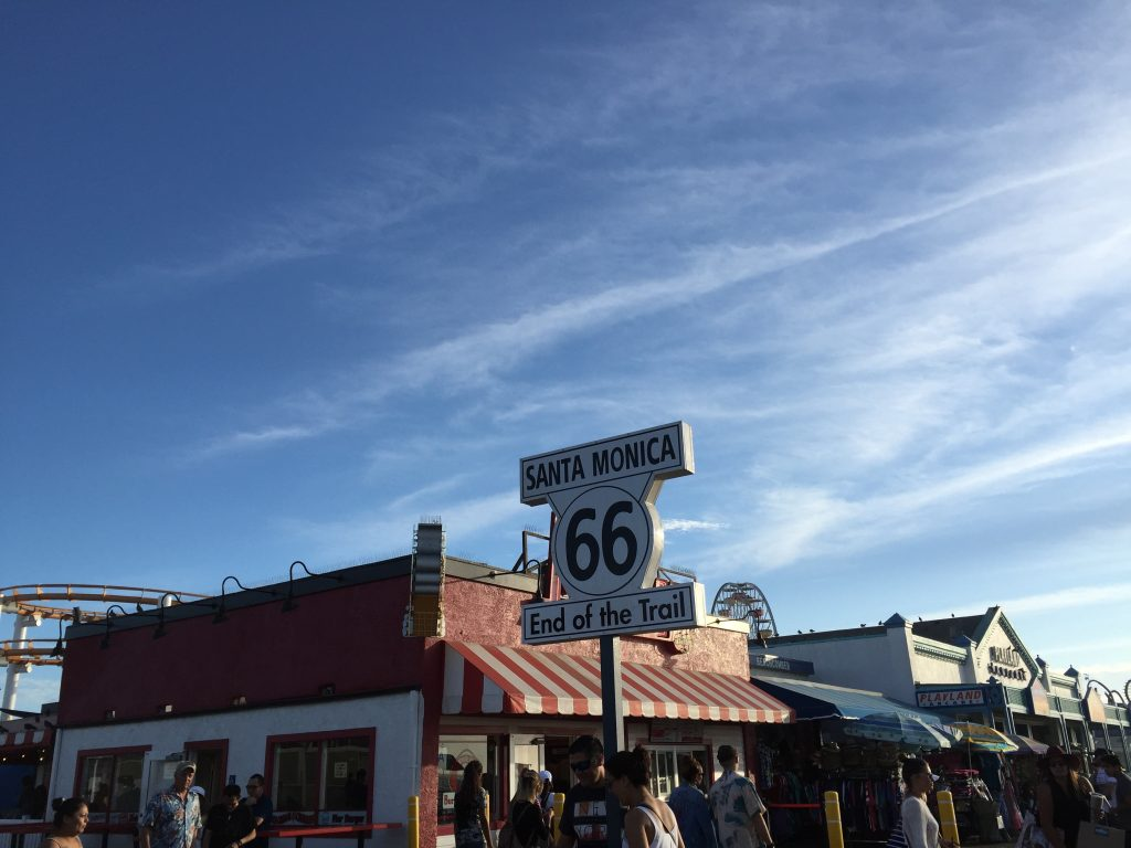 photo Santa Monica Californie, fin de la Route 66