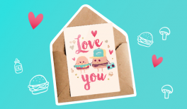 """Vignette : Imprime ta carte gratuite illustrée """"Burgers in Love"""" sur Goodie Mood, le blog Feel Good"""
