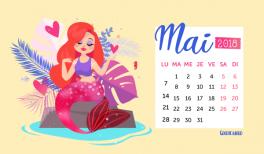 Fond d'écran / calendrier pour mai 2018