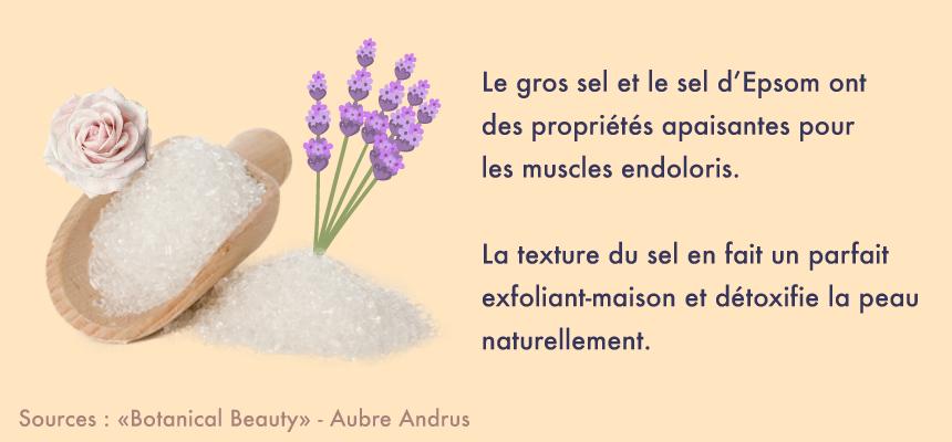 Les bienfaits apaisants du sel d'Epsom - Beauté maison